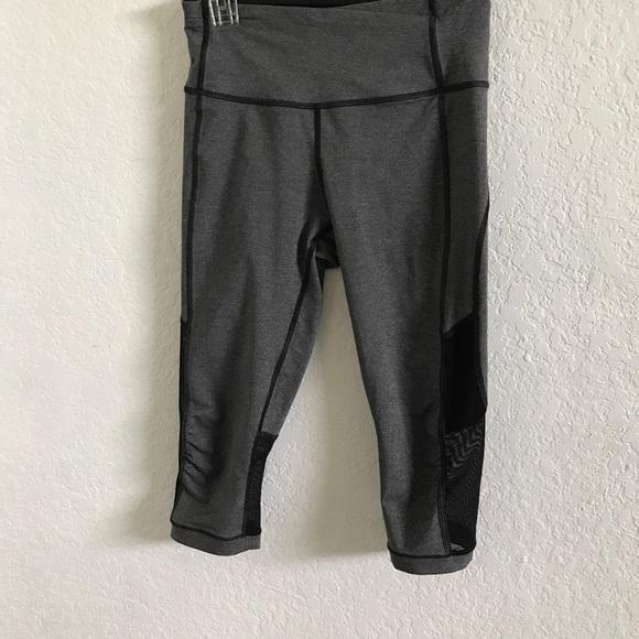 8f729f048b348b lululemon athletica Pants - LULULEMON black/gray capri yoga pants with mesh  6